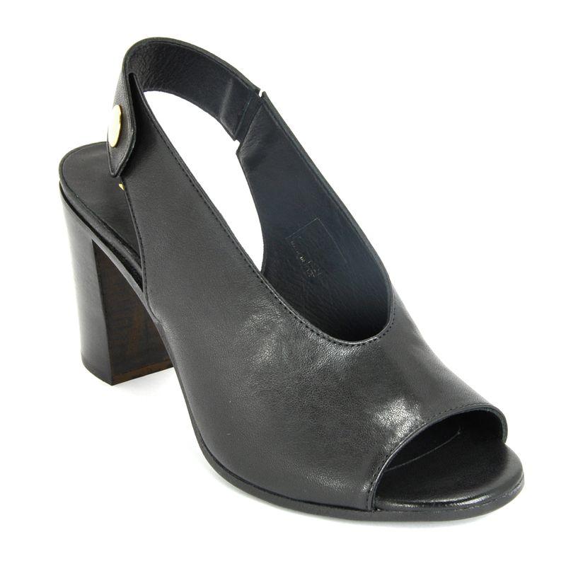 1652-Leather-High-Sandal-35-Black