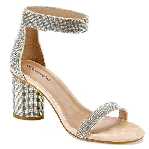 Laura Jeweled Block Heel Sandal