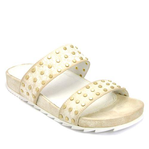 Erika Leather Stud Sandal