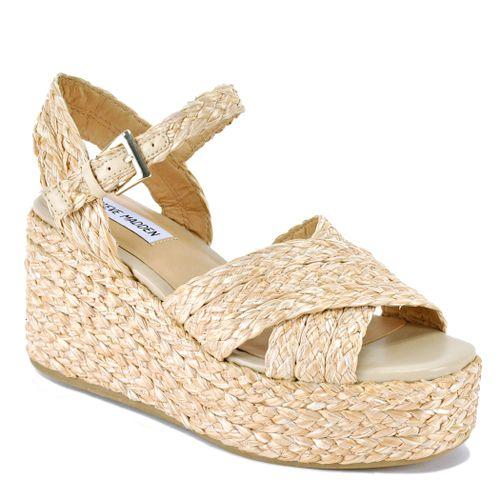 Pam Raffia Wedge Sandal