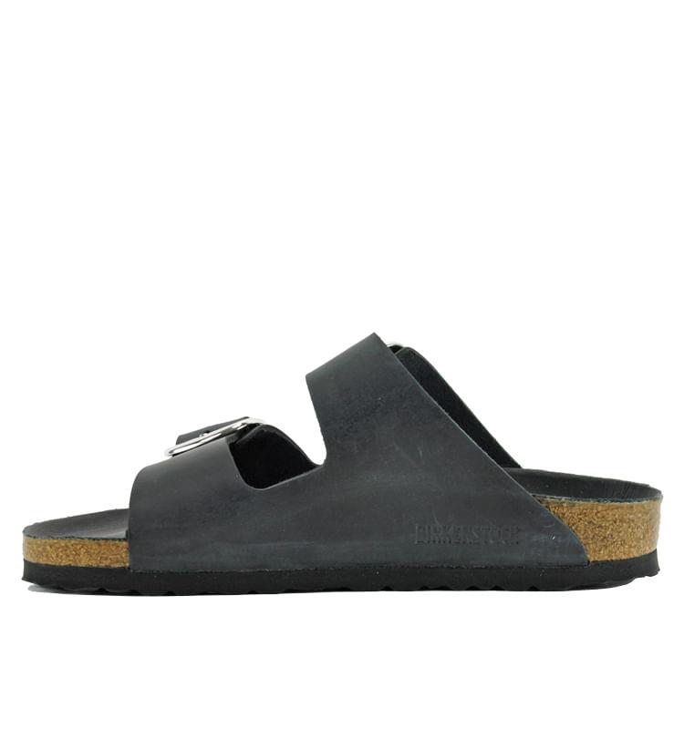Arizona-1011075-Big-Buckle-Footbed-Slide-36-Black-3