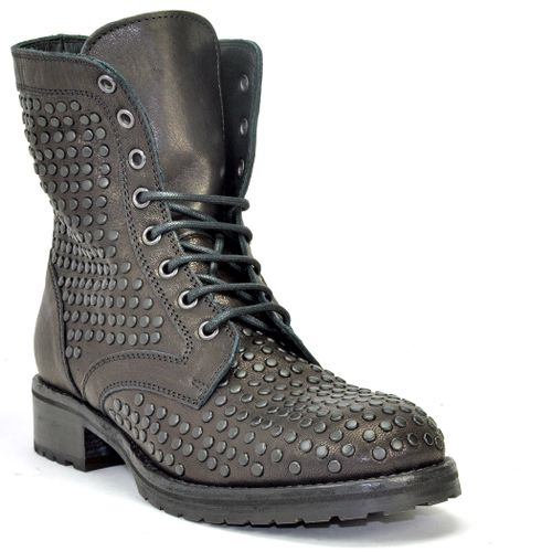 1515 Studded Leather Lug Sole Ankle Boot