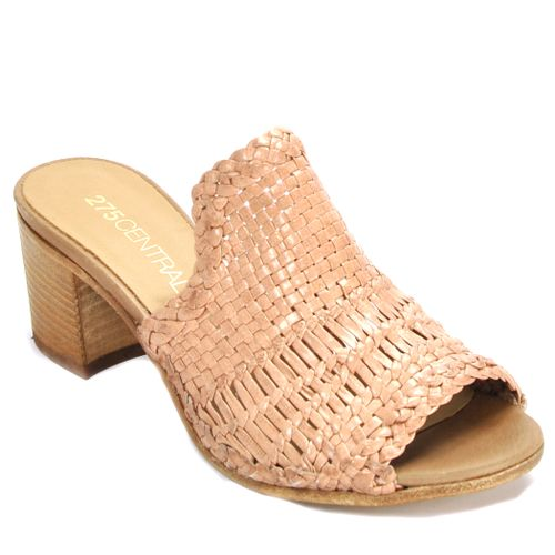 1722 Leather Woven Slide