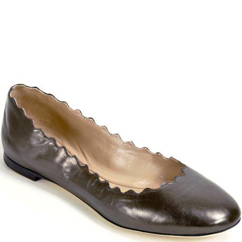 CH24160 Scalloped Ballet Flat