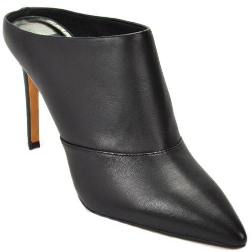 Cinda Leather High Heel Mule