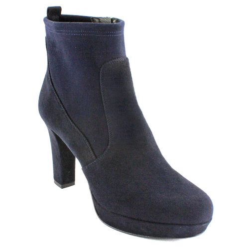 2568 Suede Heel Ankle Boot