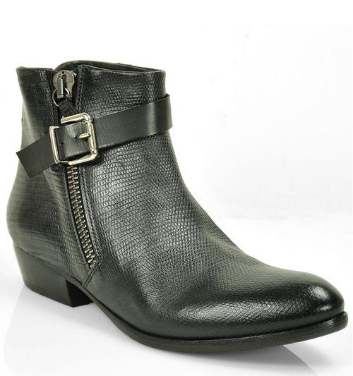 5907 Leather Zipper Bootie