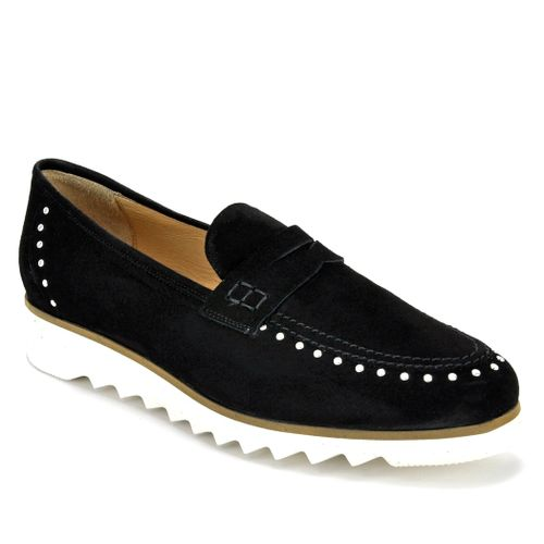 825 Suede Flat Loafer