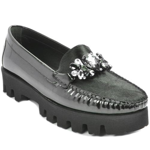 8849Q Black Patent Leather Loafer