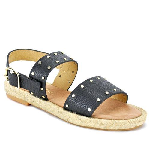 Ecoti Leather Flat Espadrille