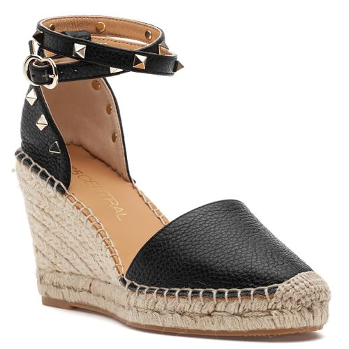 Michael Leather Wedge Espadrille