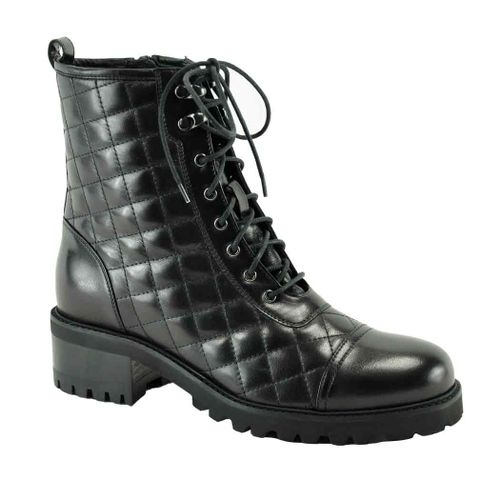 Motor Quilted Leather Boot