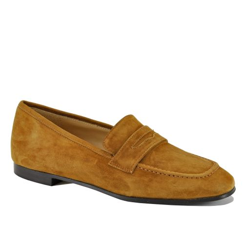Peyton Suede Flat Penny Loafer