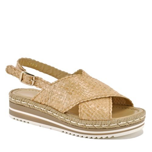 Porter Leather Woven Wedge