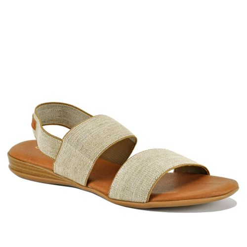 Nigella Linen Flat Sandal