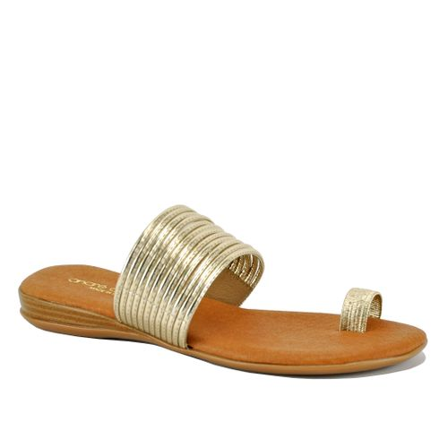 Vira Metallic Flat Sandal