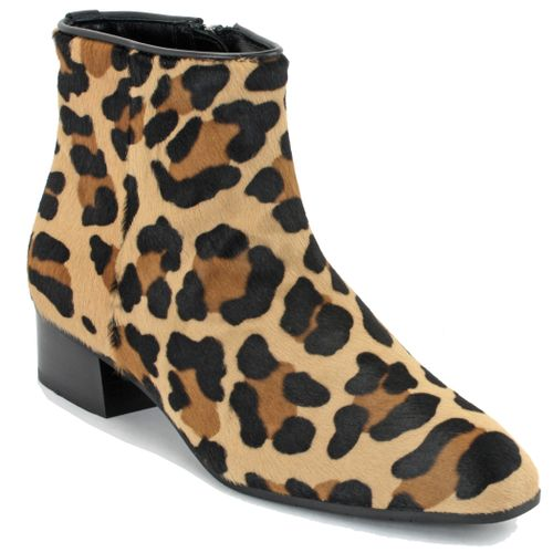 Fuoco Leopard  Ankle Boot