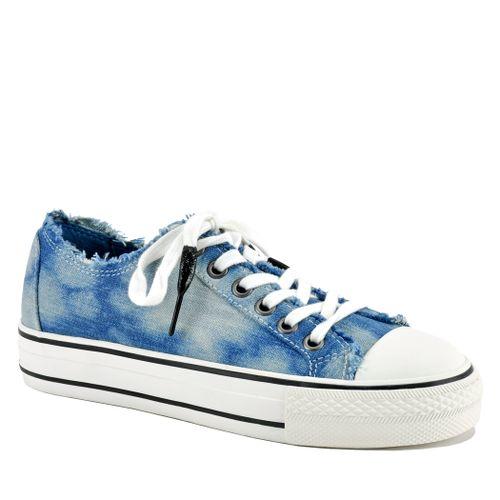 Viki Denim Flatform Sneaker