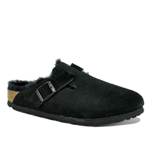 Boston Suede Fur Mule