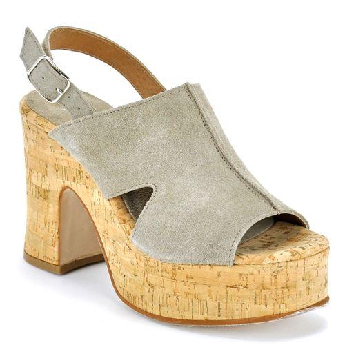Courtney Suede Platform Cork Sandal