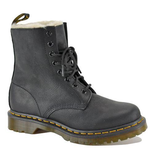 1460 Leather Fur Combat Boot