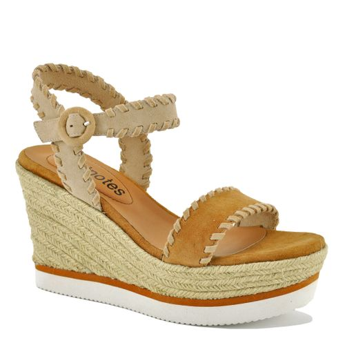 Caly Leather/Suede Wedge Espadrille