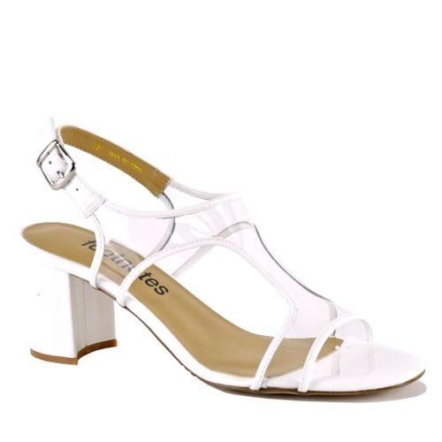 Lawrence Lucite Heel Sandal