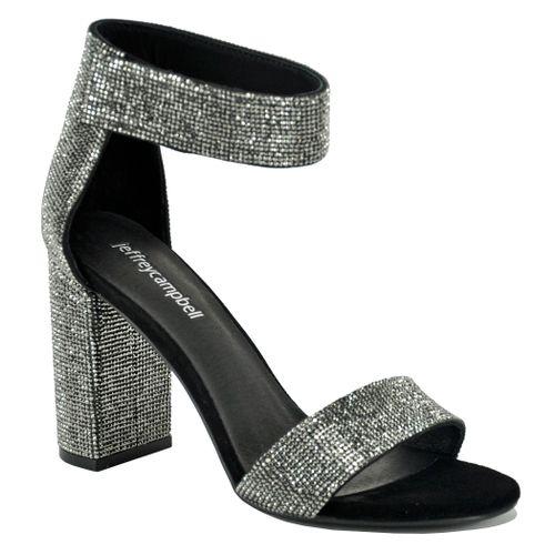 Lindsay JS Glitter Heel Sandal