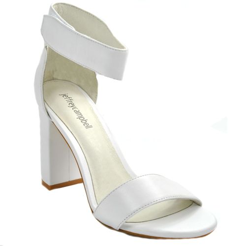 Lindsay Leather Leather Heel Sandal