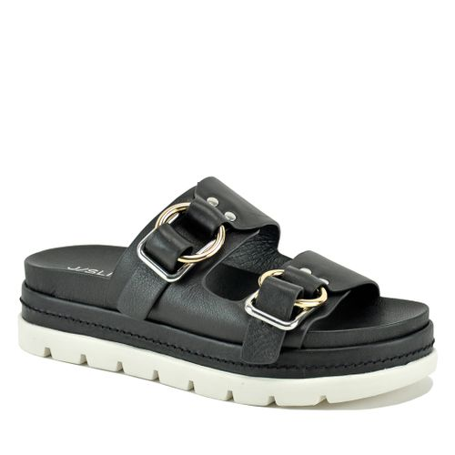 Baha Leather Double Banded Slide