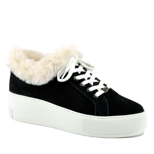 Mellia Suede Fur Platform Sneaker