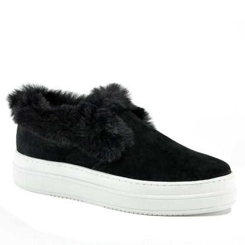 Neel Suede Fur Slip On Sneaker