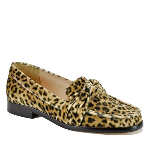 Elina Leopard Flat Loafer