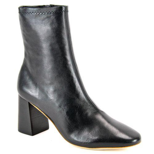 Elise Leather Block Heel Bootie