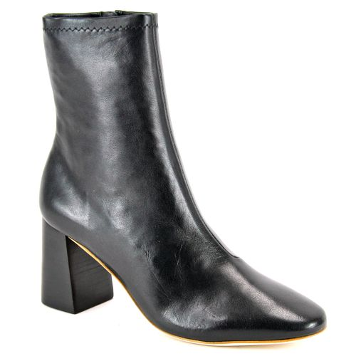 Elise Leather Block Heel Bootie