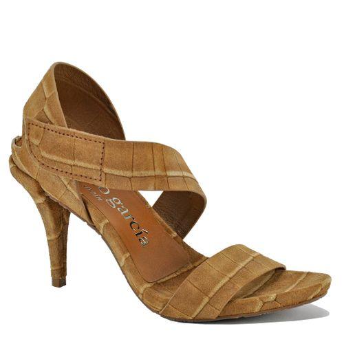 Yamina Croc Heel Sandal