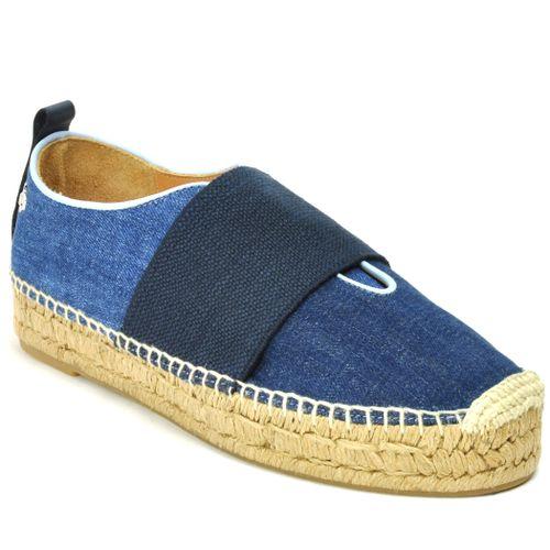 Nina Denim Espadrille Slip On Sneaker