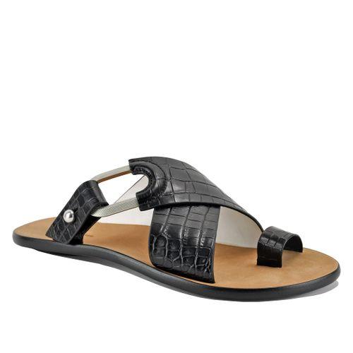 August Croc Flat Slide