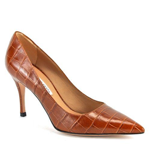 Emma Croco Heel Pump