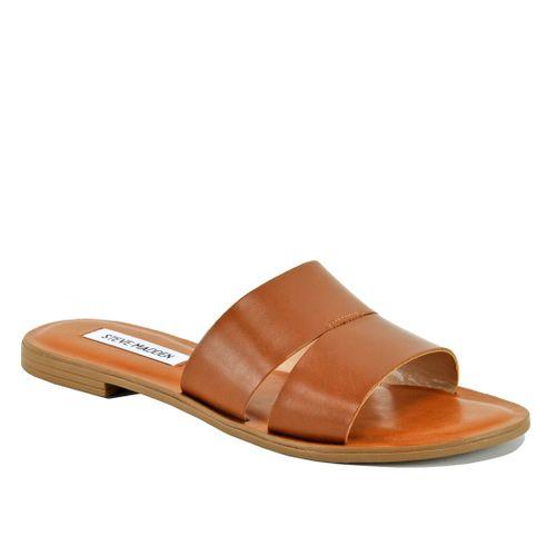 Alexandra Leather Flat Slide