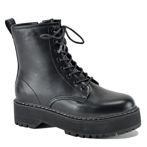 Bettyy Leather Lace Up Bootie