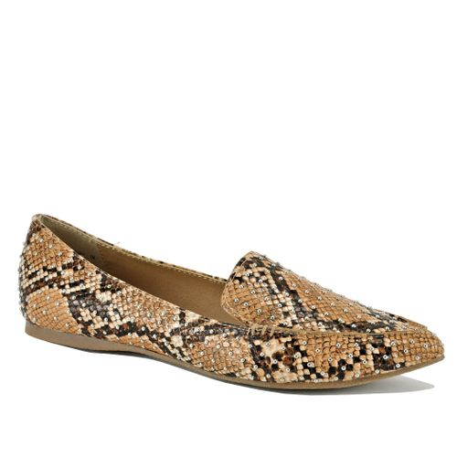 Feather Studded Closed Flat