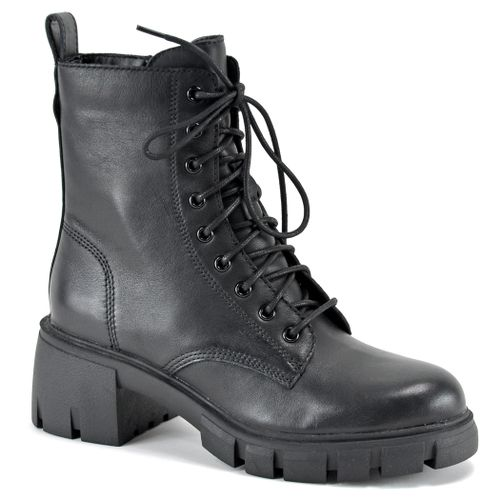 Hybrid Leather Tie Lug Boot