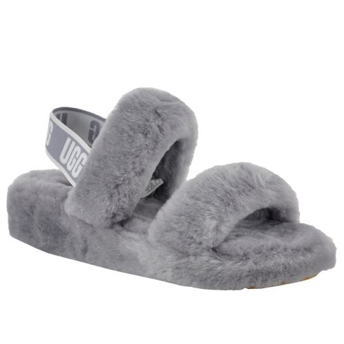 Oh Yeah Slide Shearling Double Banded Slide