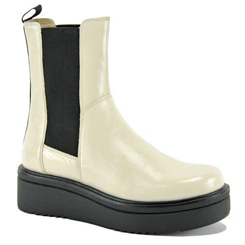 Tara Patent Leather Wedge Bootie
