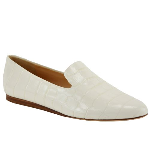 Griffon White Croc Loafer