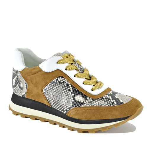 Hartley Suede Snake Sneaker