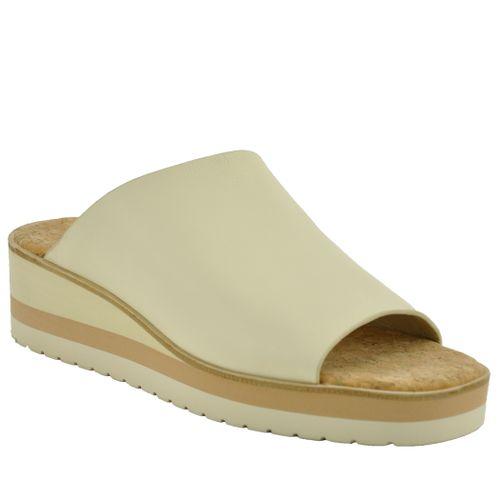 Sarria Leather Wedge Slide