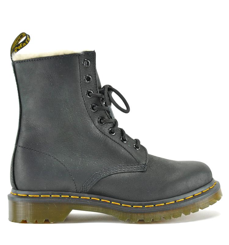 1460-Leather-Fur-Combat-Boot-DrMartens_1460Serena_Black_10Medium