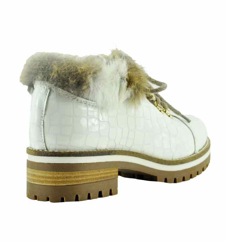 Ekka-Croc-Leather-Fur-Lug-Bootie-36-White-2